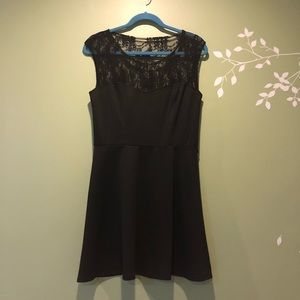 Lace sweetheart little black dress